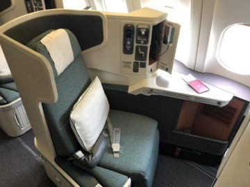 cathay pacific business class a330 sitz fenster2