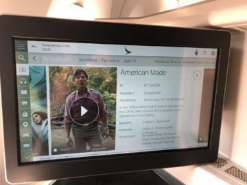 Cathay Pacific Business Class A350-1000 Entertainment
