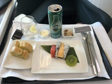 Cathay Pacific Business Class A350-1000 Vorspeise