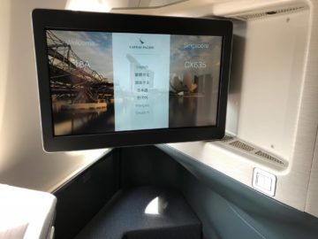 cathay pacific business class a350 1000 monitor