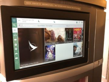 cathay pacific first class boeing 777 300 hauptmenue tv