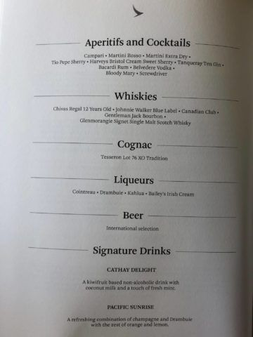 cathay pacific first class boeing 777 300 hochprozentiger alkohol