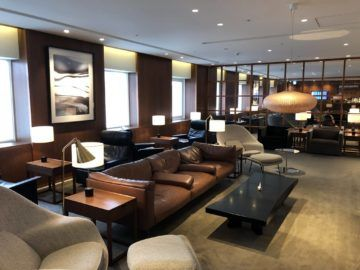 cathaypacific business class lounge taiwan taoyuan hauptbereich
