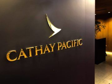 cathaypacific business class lounge taiwan taoyuan logo