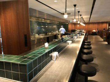 cathaypacific business class lounge the pier hongkong noodle bar