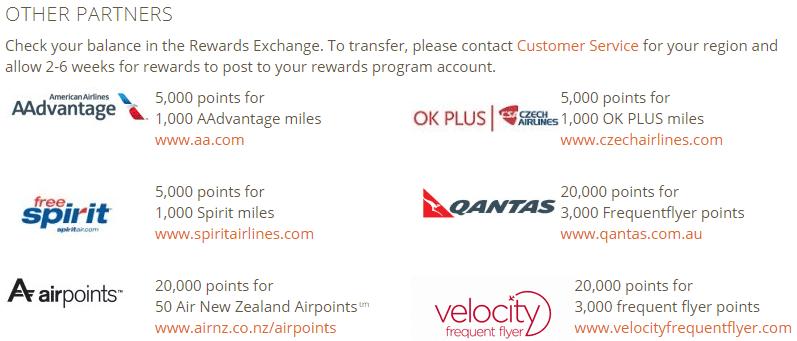 Auch American und Air New Zealand gehören zu Partnern - aber auch hier lohnt ein Tausch nicht wirklich