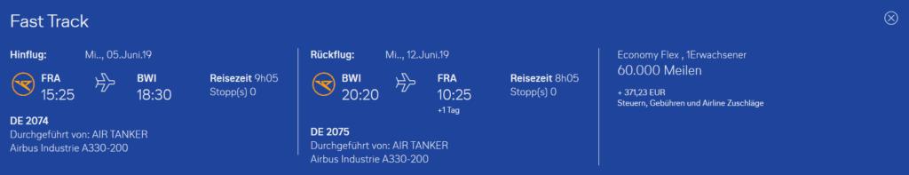 Condor Flugwochen Frankfurt Baltimore