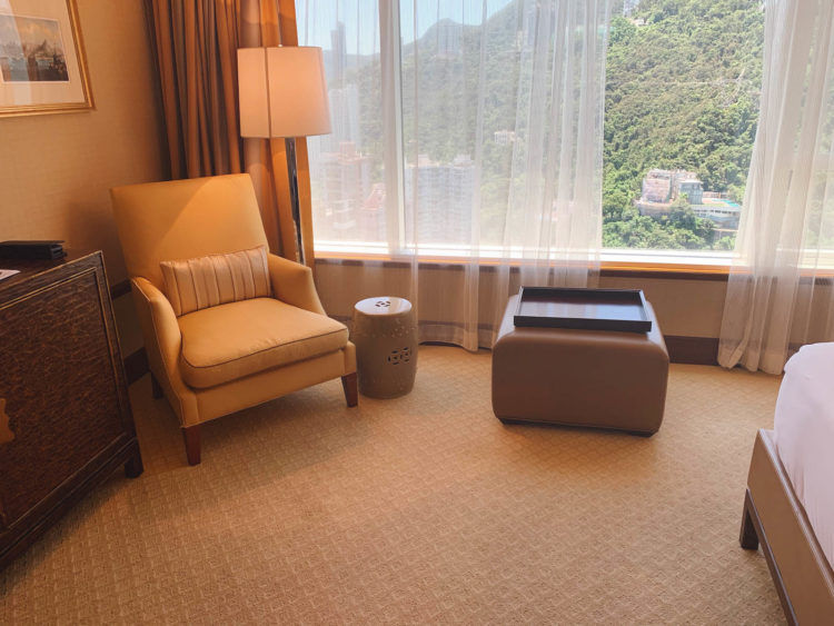 Conrad Hongkong King Executive Zimmer mit Peak View