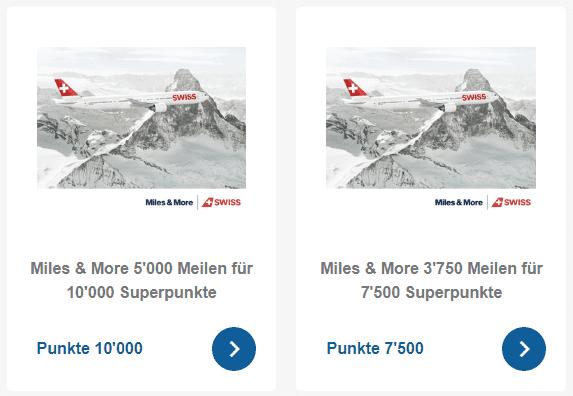 Miles & More Prämien im Supercard Prämienshop