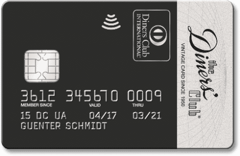diners club vintage card kreditkarte at