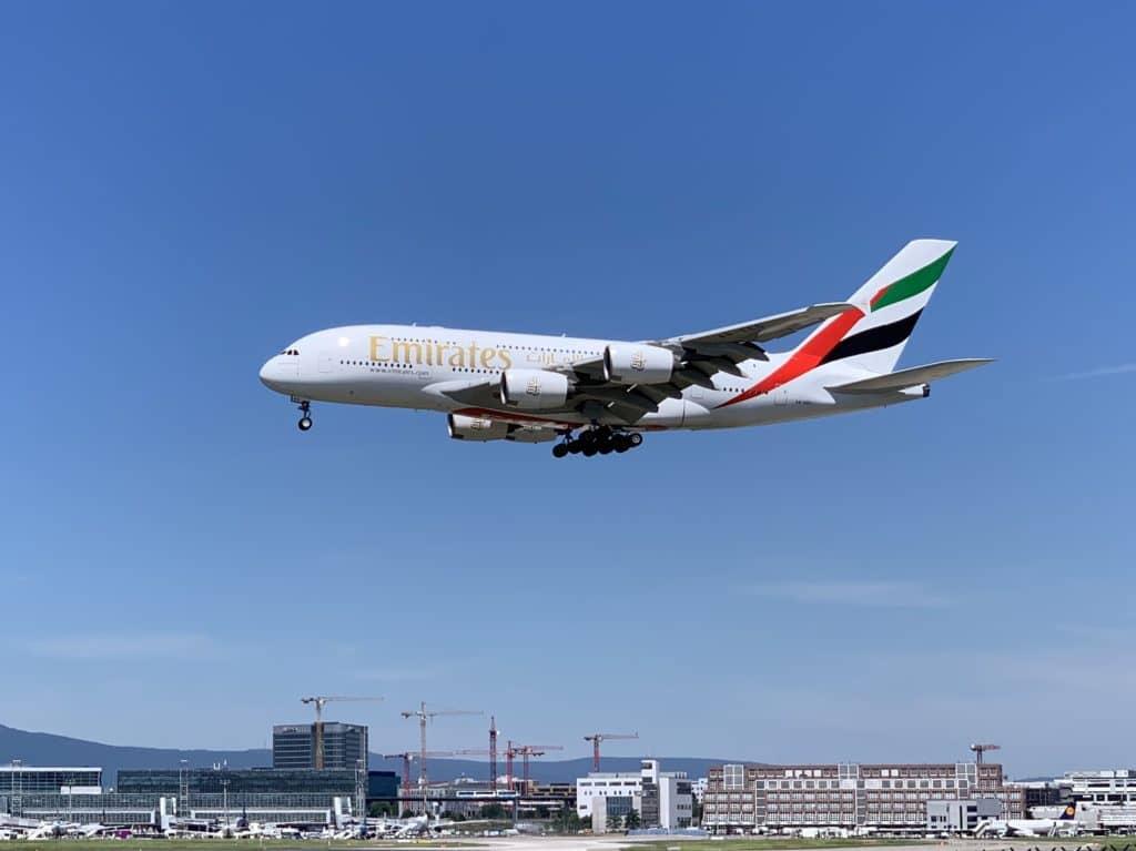emirates a380 flugzeug frankfurt flughafen
