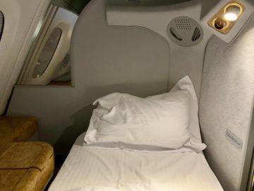 emirates alte first class a380 bett 1