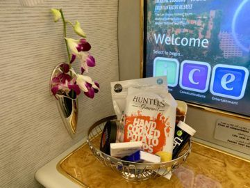 emirates alte first class a380 snackkorb