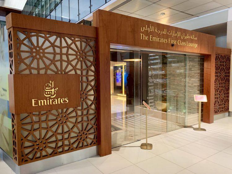 emirates first class lounge dubai concourse b eingang
