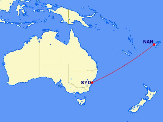 Lage von Fidschi im Südpazifik