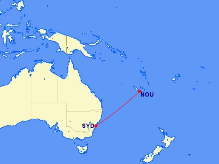 Lage von Neukaledonien im Südpazifik