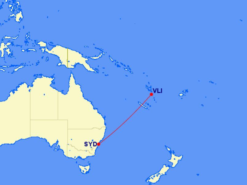 Lage von Vanuatu im Südpazifik