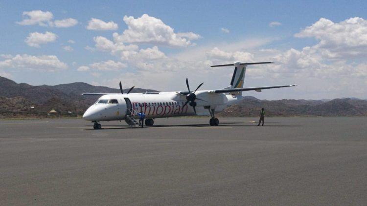 ethiopian airlines bombardier q400