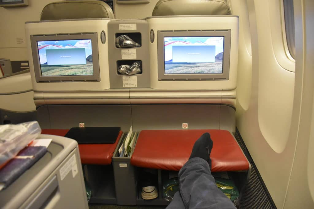 Ethiopian Airlines Business Class Boeing 777-200LR Ottoman