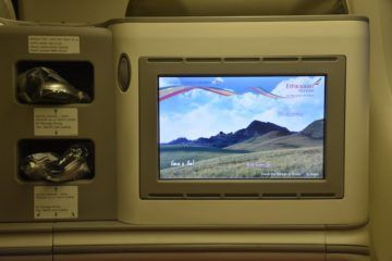 ethiopian airlines business class boeing 777 200lr ablage am monitor 1