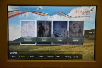 ethiopian airlines business class boeing 777 200lr entertainment filmauswahl