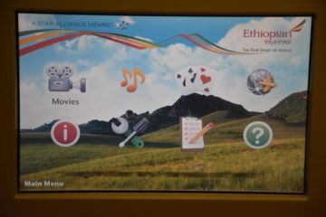 ethiopian airlines business class boeing 777 200lr entertainment hauptmenue