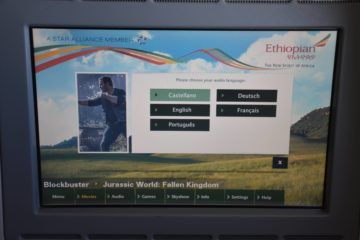 ethiopian airlines business class boeing 777 200lr entertainment sprachauswahk