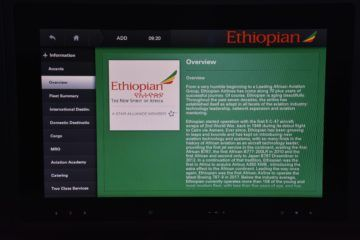 ethiopian airlines business class boeing 787 8 entertainment informationen