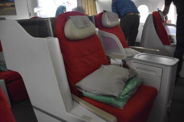 ethiopian airlines business class boeing 787 8 sitz von der seite