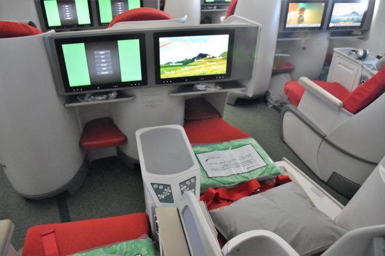 ethiopian airlines business class boeing 787 8 sitz von hinten ausgefahren