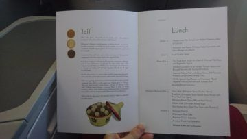 ethiopian airlines business class boeing 787 8 speisekarte lunch