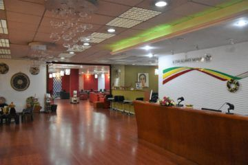 Empfang der Ethiopian Airlines cloud nine lounge terminal 2 addis abeba