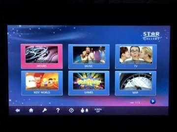 eva air business class a330 300 entertainment menue
