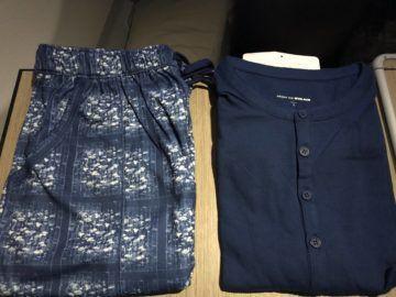 eva air business class a330 300 pyjama ausgepackt
