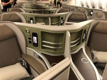 EVA Air Business Class Boeing 777-300 Kabine Rueckflug