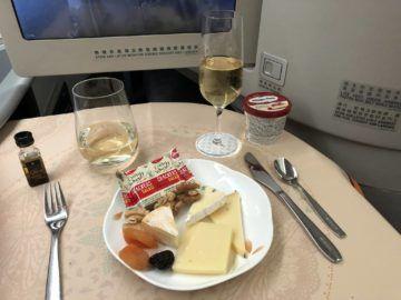 EVA Air Business Class Boeing 777-300 Kaeseplatte