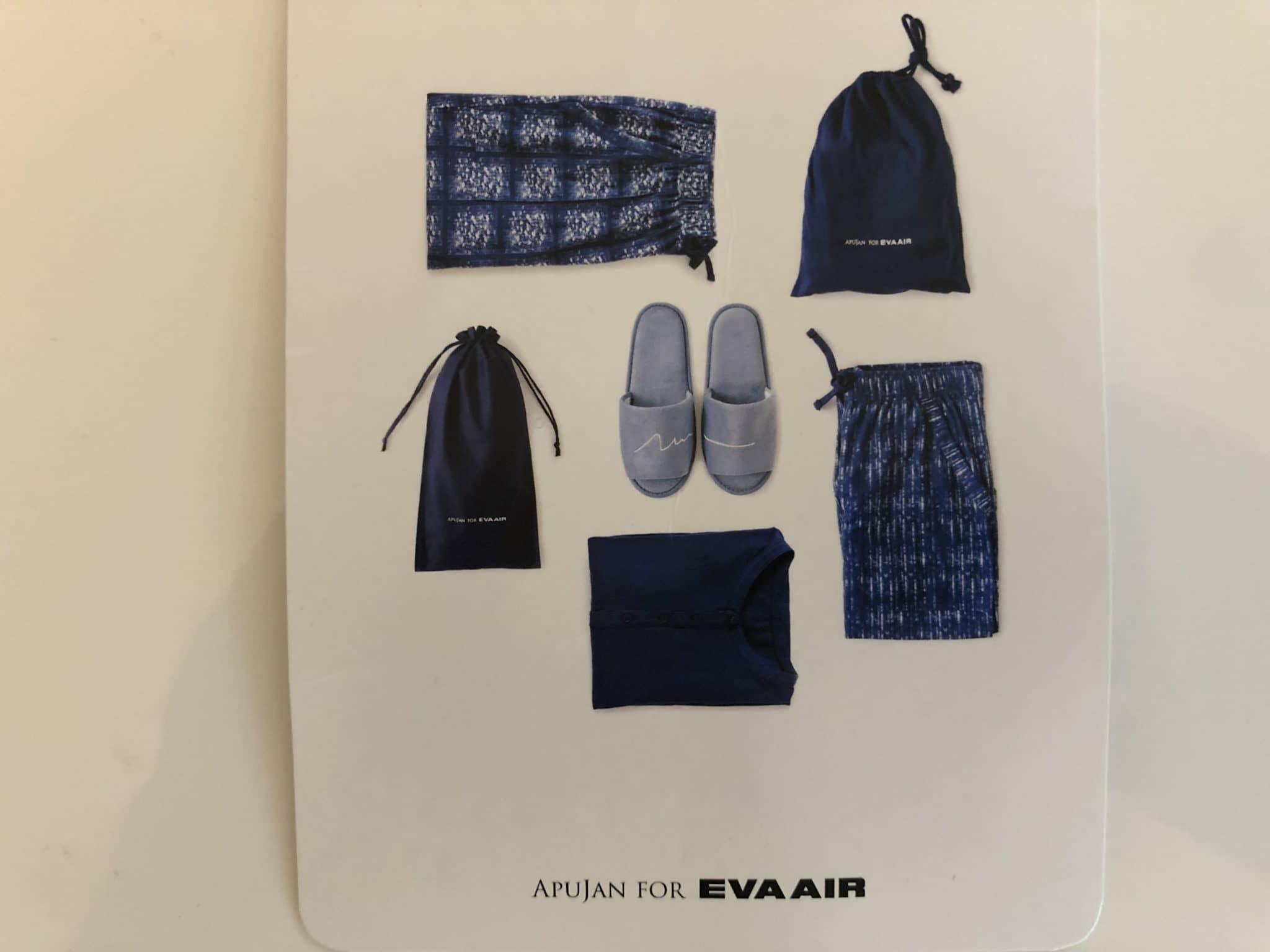 EVA Air Business Class Boeing 777-300 Pyjama Rueckflug