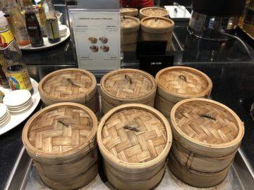eva air lounge bangkok dumplings