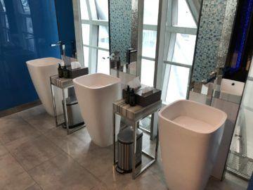 eva air lounge bangkok waschbereich