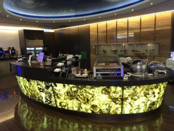 eva air lounge the star essensbereich