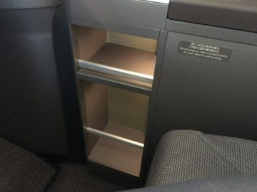 eva air neue business class boeing 787 9 ablagefach unten
