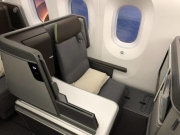 EVA Air neue Business Class 787-9 Sitz direkter Fensterblick