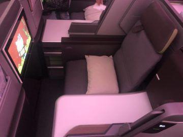 eva air neue business class boeing 787 9 sutz von oben