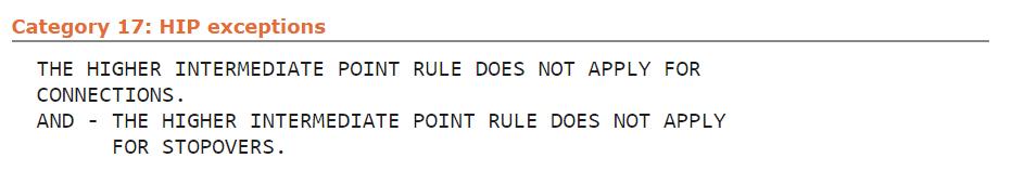 fare rules kategorie 17 hip exceptions beispiel delta