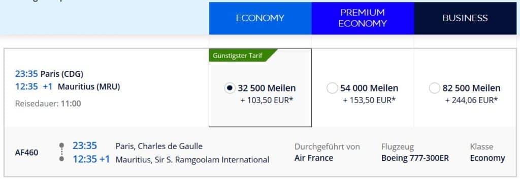 flying blue praemienflug air france paris mauritius