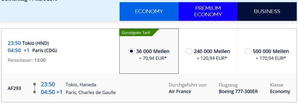 flying blue praemienflug air france tokio paris