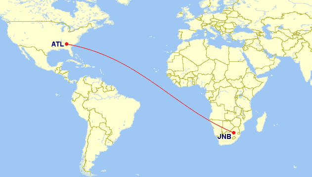 gcmapper praemienflug business class johannesburg atlanta