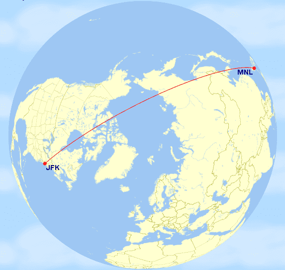 gcmapper praemienflug business class manila new york