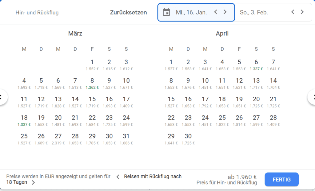 google flights kurzanleitung 2