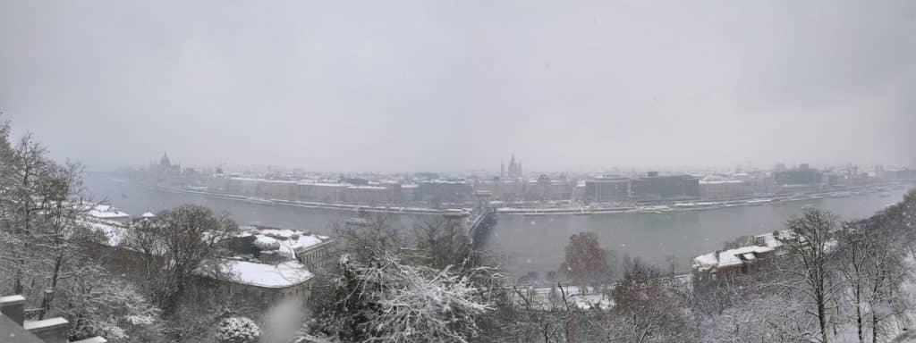 Hilton Budapest - Blick auf die Stadt von der Burganlage